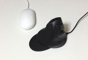 大きさ比較1:エルゴノミクス(人間工学形状)マウス MA-ERG5