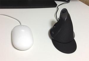 大きさ比較2:エルゴノミクス(人間工学形状)マウス MA-ERG5