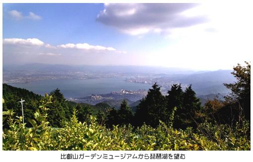 ミュージアムから琵琶湖を望む