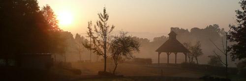 ほのぼの公園の朝日