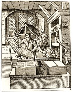 中世の印刷風景
