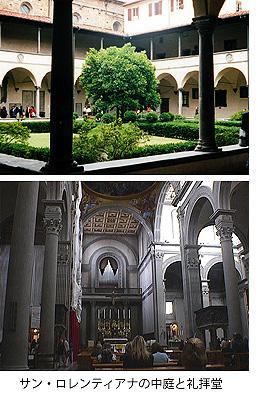 サン・ロレンティアナの中庭と礼拝堂