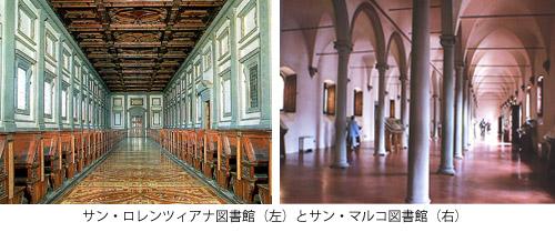 サン・ロレンツィオ図書館とサン・マルコ図書館
