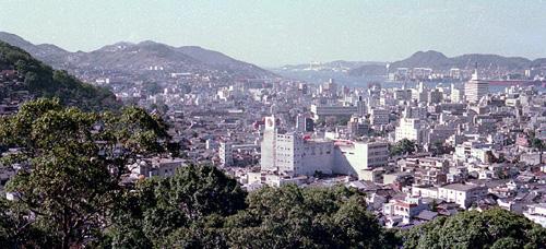 長崎春徳寺裏山からの景観