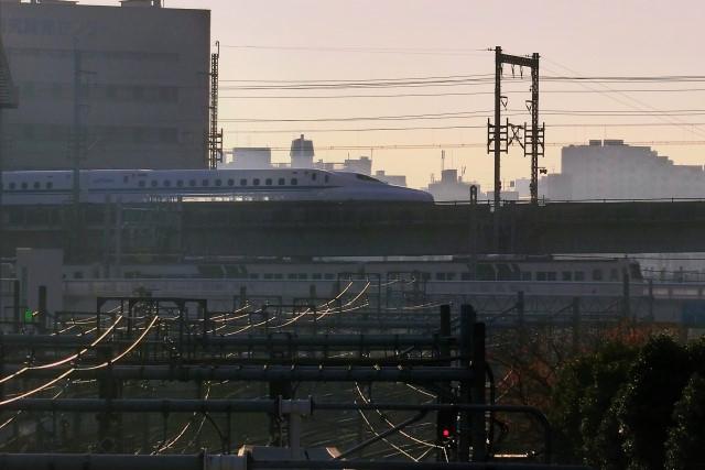 20161205、東海道新幹線と湘南ライナー