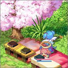 お花見♪(寝てるけど)