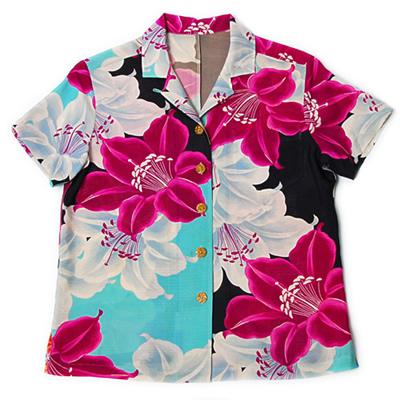カサブランカ 縮緬のアロハシャツ