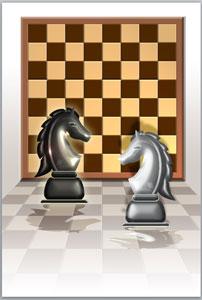年賀状無料素材「チェス」挿入