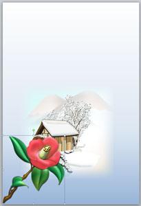 冬の花「椿」のイラスト無料ダウンロード
