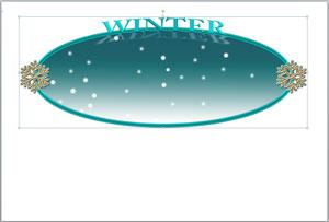 雪のプレートのイラスト無料ダウンロード