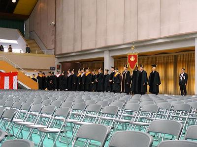 日本の大学 卒業式 01