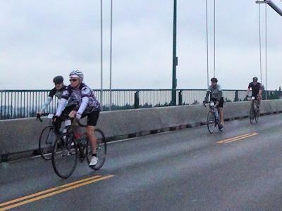 カナダで自転車レース