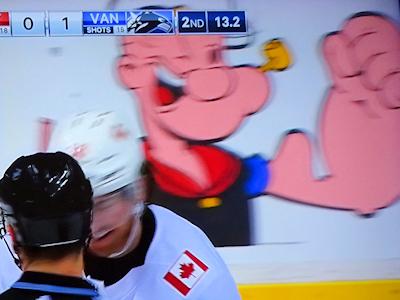 NHL カナックス 開幕戦 ポパイ