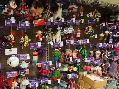 クリスマスツリーのおもちゃの飾り