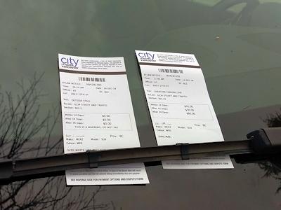 駐車違反のチケット