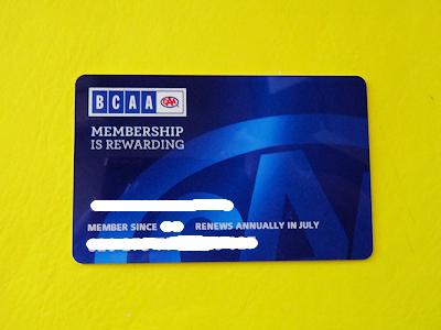 BCAA メンバーカード