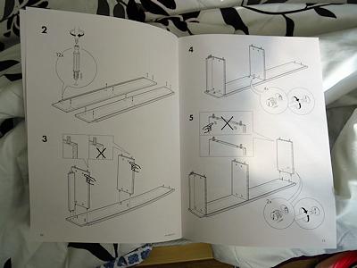 IKEAの本棚 説明書