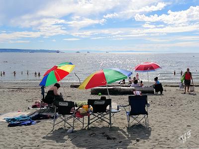 カナダの夏 ビーチで日向ぼっこ