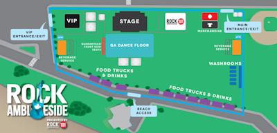 カナダ ロックコンサート 地図