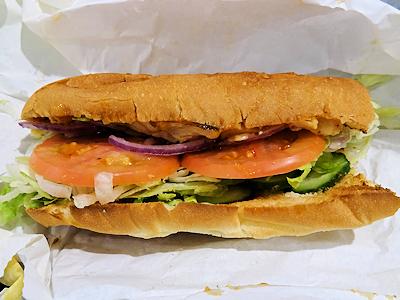 SUBWAYのサンドイッチ