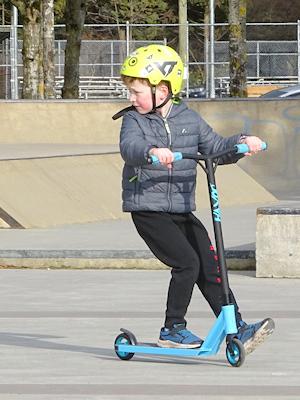 スケートパークにいる子供