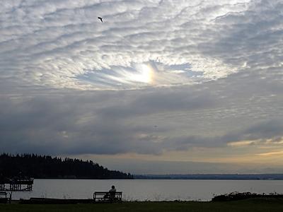 カナダで見た変な雲