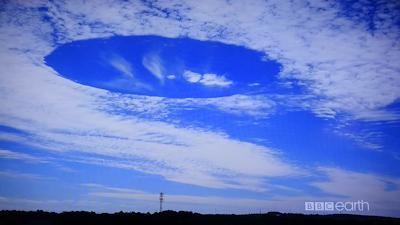 異様な雲 テレビで放映