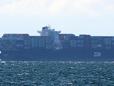 イスラエルのコンテナ船