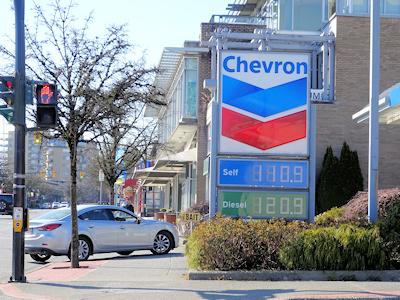 ガソリンの値段 3月21日