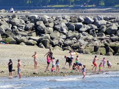 家族連れが多いビーチ