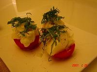 トマトとモッツァレラのカプリ風
