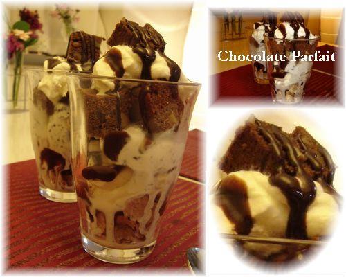チョコレートパフェ!