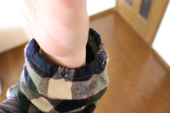 おなかあったかチュニックパジャマの袖口(ゴム仕様)