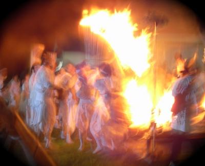 美瑛 火祭り