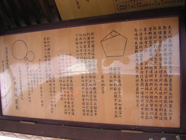 阿智神社の算額