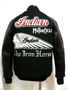 """IndianMotorcycle IM11815 新作スタジャン """"INDIAN FACE"""""""