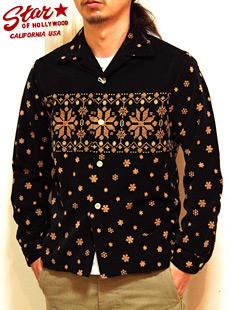 STAR OF HOLLYWOOD(スターオブハリウッド) SH25582 長袖オープンカラーシャツ[ SNOW CRYSTAL ]