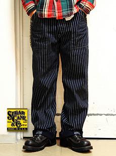 SUGAR CANE シュガーケン SC40786 WABASH STRIPE WORK PANTS ウォバッシュストライプワークパンツ 【 9oz 】