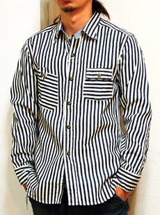 "SUGAR CANE × Mister Freedom(シュガーケン×ミスターフリーダム) SC25531 HICKORY WORK SHIRTS ""MADE IN U.S.A."" ヒッコリーワークシャツ"