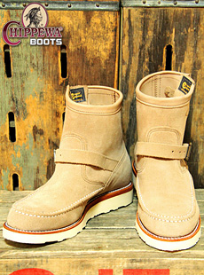 Chippewa チペワ 97875 7inch MOC ENGINEER BOOTS [ SAND SUEDE ]