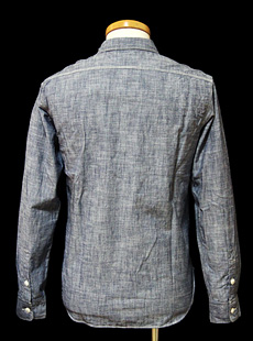 UES ウエス 2012 AW 501257 セルビッジシャンブレーワークシャツ コットン 綿 100%