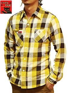 CATS PAW キャッツポウ CP25940 FLANNEL CHECK WORK SHIRTS フランネルチェックワークシャツ 実名復刻 東洋エンタープライズ