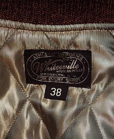 WhitesVille ホワイツビル WV12571 30oz. WOOL MELTON SET-IN AWARD JACKET SEMI-DECORATION [ SF ] スタジャン アワードジャケット