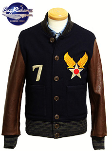 BUZZ RICKSONS バズリクソンズ BR12533 U.S. ARMY AIR FORCES ATHLETIC JACKET [ 30S MODEL ] トレーニングジャケット アスレチックジャケット スタジャン