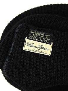 BUZZ RICKSONS × William Gibson Collection バズリクソンズ×ウィリアムギブソンコレクション BR02152 BLACK A-4 KNIT CAP ミリタリーニットキャップ