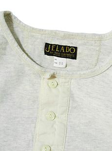 JELADO ジェラード [ ANTIQUE GARMENTS ] アンティークガーメンツ JAGT-013 グランコット度詰め天竺ヘンリーネックTシャツ [ Classic underwear ]