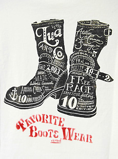 LUA × FREE RAGE ルア×フリーレイジ 213CC394/213CC379 10周年記念限定 別注14/-BD天竺ヘンリーネック七分袖Tシャツ