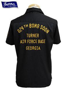 Pherrows フェローズ 14S-PBS1 カスタムボーリングシャツ [ 824th BOMB SQDN ]