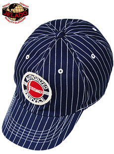 JELADO 0ジェラード [ ATHLETIC BRAND ] JABC-002 Baseball Cap Wabash ウォバッシュストライプベースボールキャップ