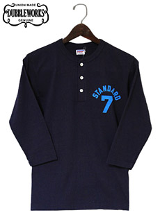 DUBBLEWORKS ダブルワークス 53003STA-14 3/4 SLEEVE HENLEY NECK T-SHIRT [ STANDARD 7 ] 七分袖ヘンリーネックTシャツ
